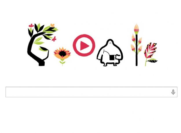 Google Doodle per l'equinozio di primavera, immagini floreali e natura rigogliosa