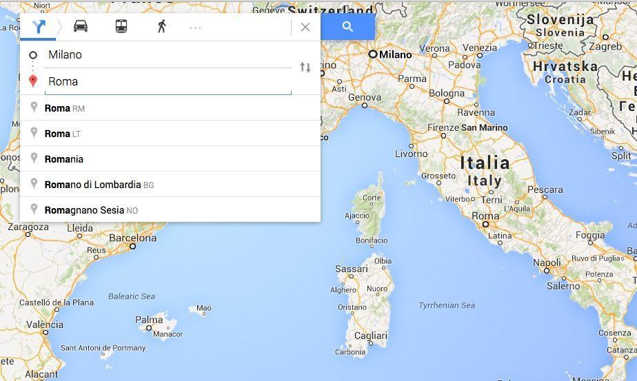Google Maps comandi e funzioni