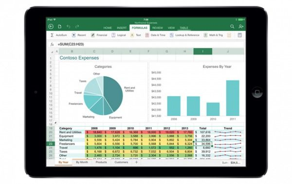 Office iPad Excel