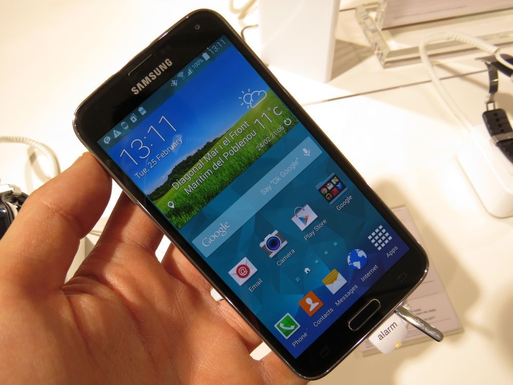Samsung Galaxy S5 hands on al MWC