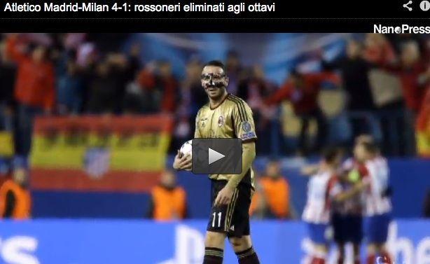 Atletico Madrid vs Milan 4-1: rossoneri fuori pesantemente dalla Champions League