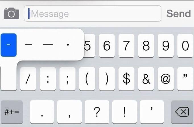Dash caratteri nei messaggi