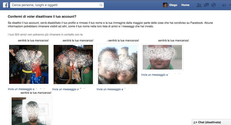 Facebook prova a trattenerti