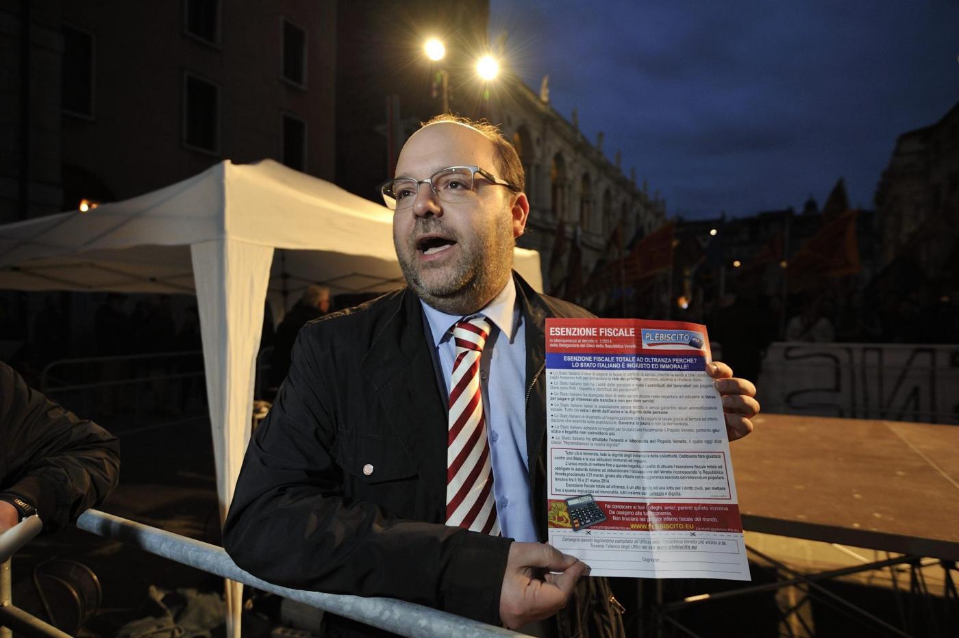 Gianluca Busato sciopero fiscale secessionisti veneti
