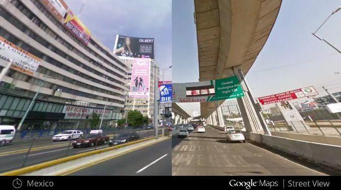 Google Maps prima e dopo in Messico