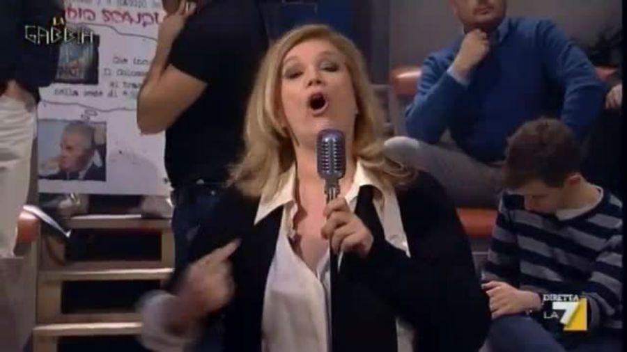 Iva Zanicchi a La Gabbia: 'Vaffa…, ma per davvero!'