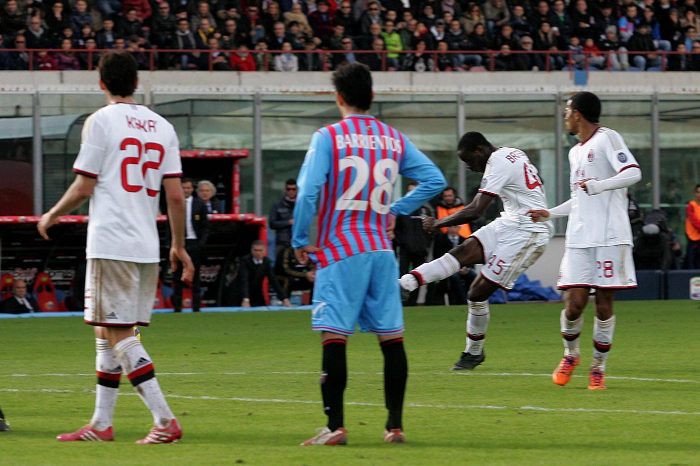 Milan Catania probabili formazioni