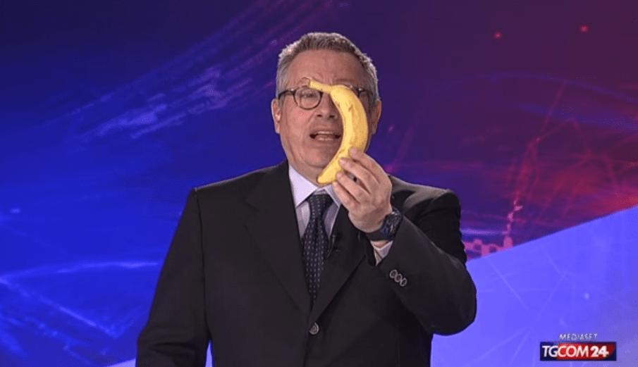 Dani Alves e la banana, a TgCom24 il 'bis' di Paolo Liguori e Iva Zanicchi