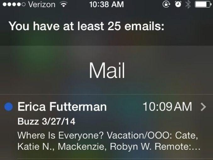 Siri legge le mail