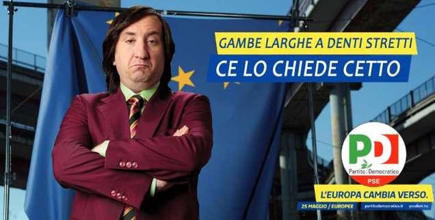 Elezioni Europee 2014: le vignette della campagna del PD