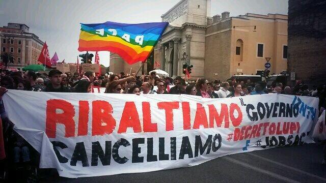 corteo movimenti roma