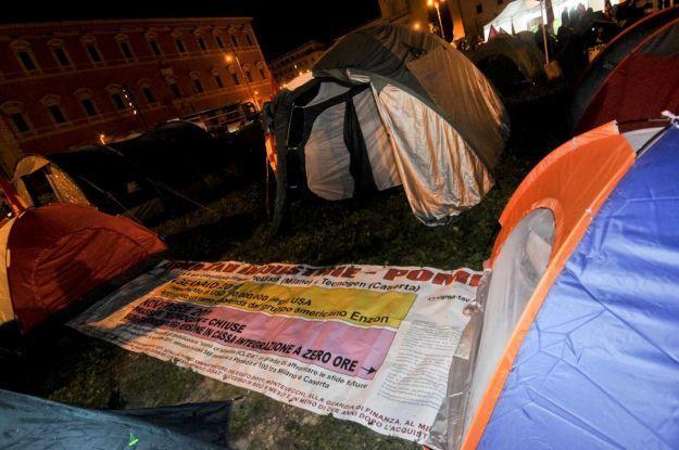 Roma, corteo dei Movimenti: l'acampada del 19 ottobre 2013