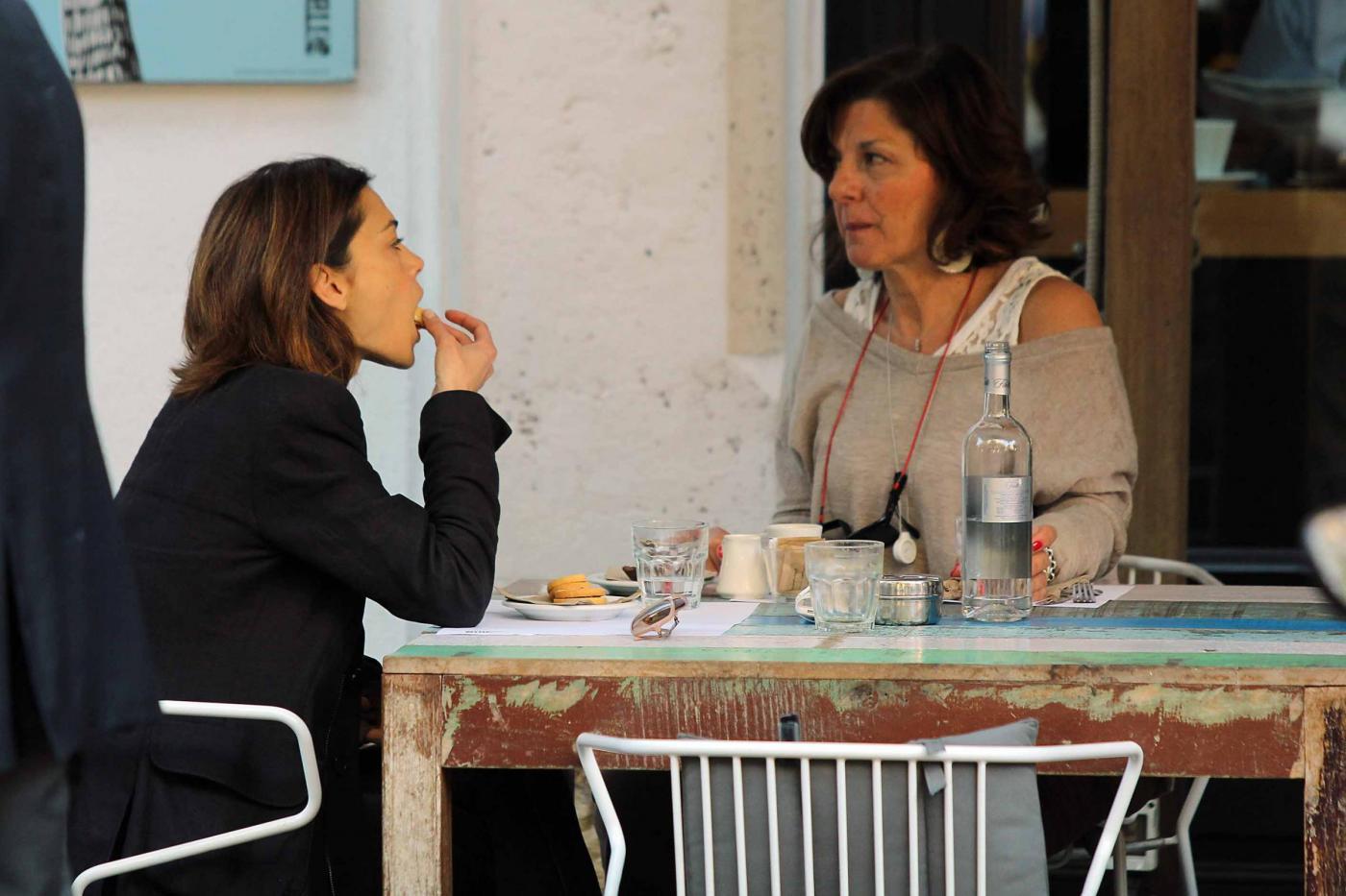 Giorgia Surina a pranzo senza Nicolas Vaporidis