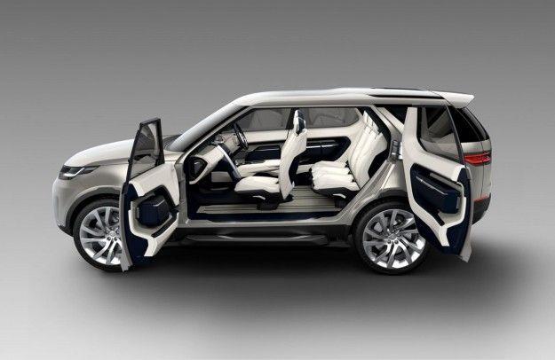 interni della land rover discovery vision concept