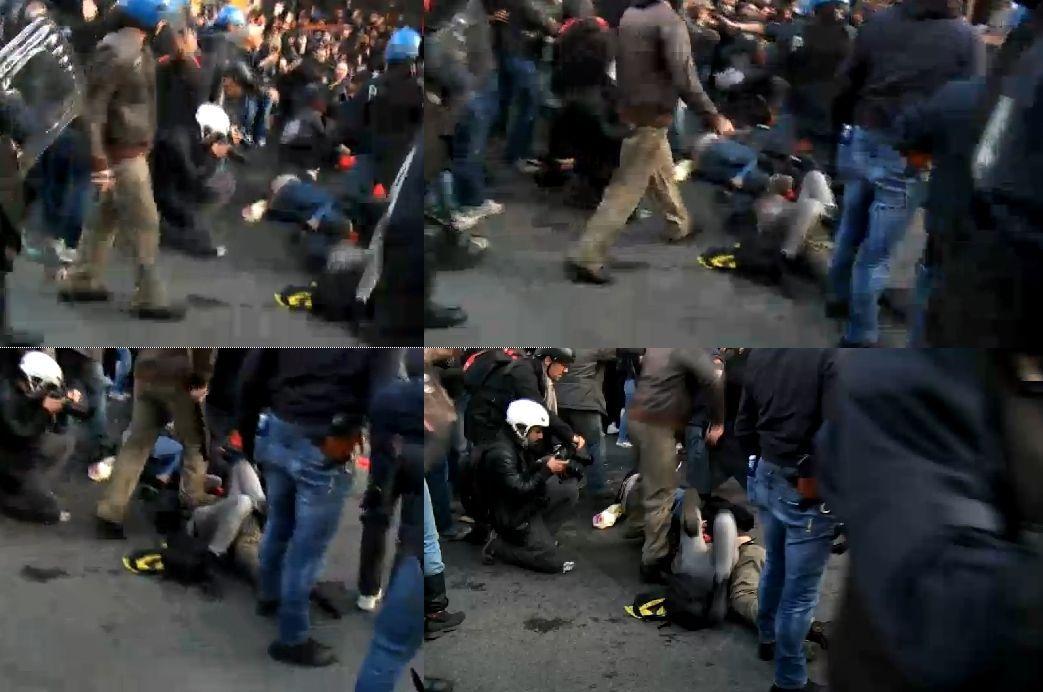 sequenza poliziotto roma