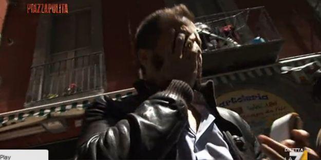 Piazzapulita: inviato picchiato per una tentata intervista a Genny 'a Carogna