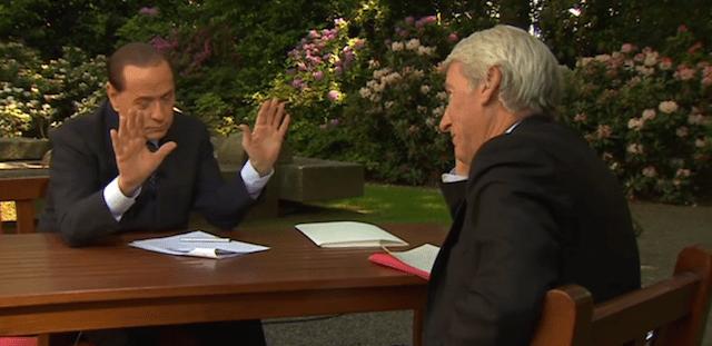 Berlusconi intervistato dalla BBC nega gli insulti alla Merkel
