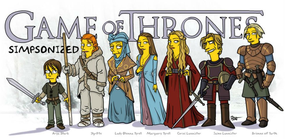 Game of Thrones, i personaggi come i Simpson