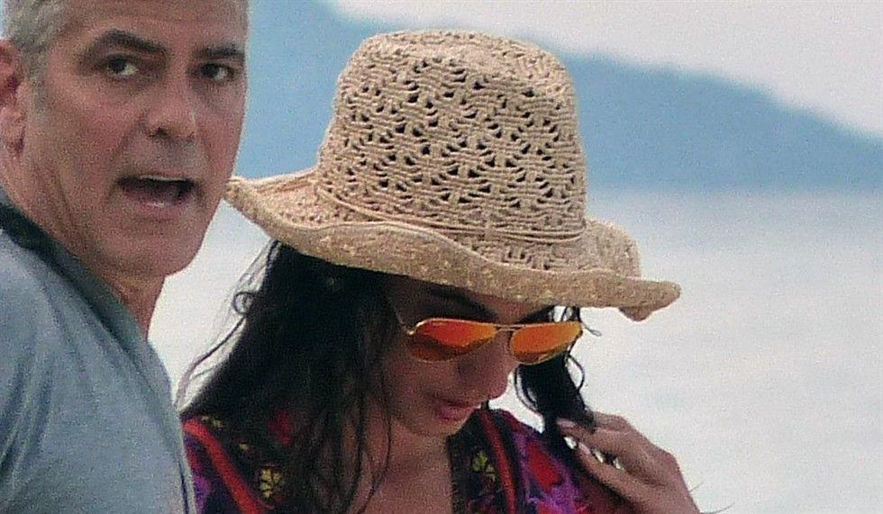 George Clooney con Amal Alamuddin