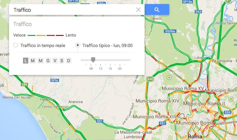 Google Maps Traffico tipico