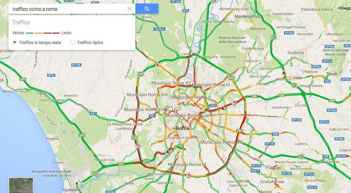 Google Maps e traffico: come controllarlo in tempo reale