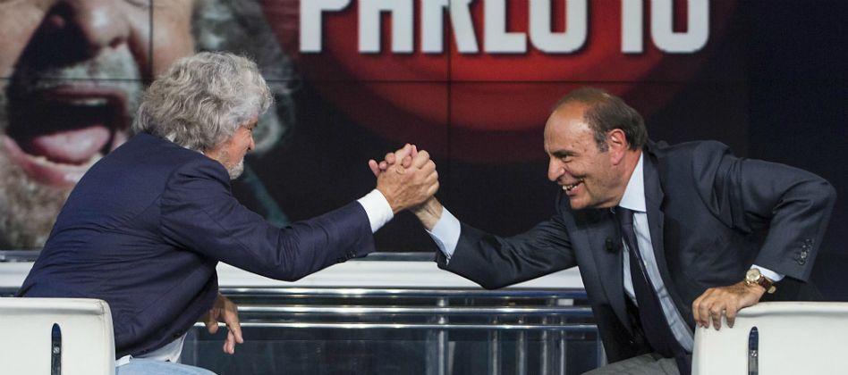 Beppe Grillo a Porta a Porta: comizio sottotono per il leader del Movimento 5 Stelle