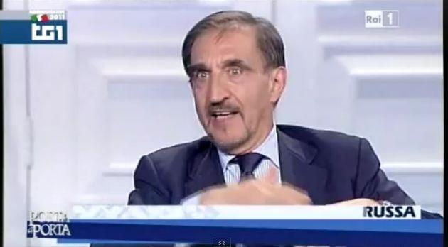 Porta a Porta: La Russa si taglia la barba in diretta dopo la sconfitta alle urne