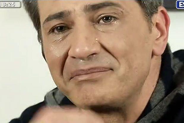 Lorenzo Crespi in lacrime