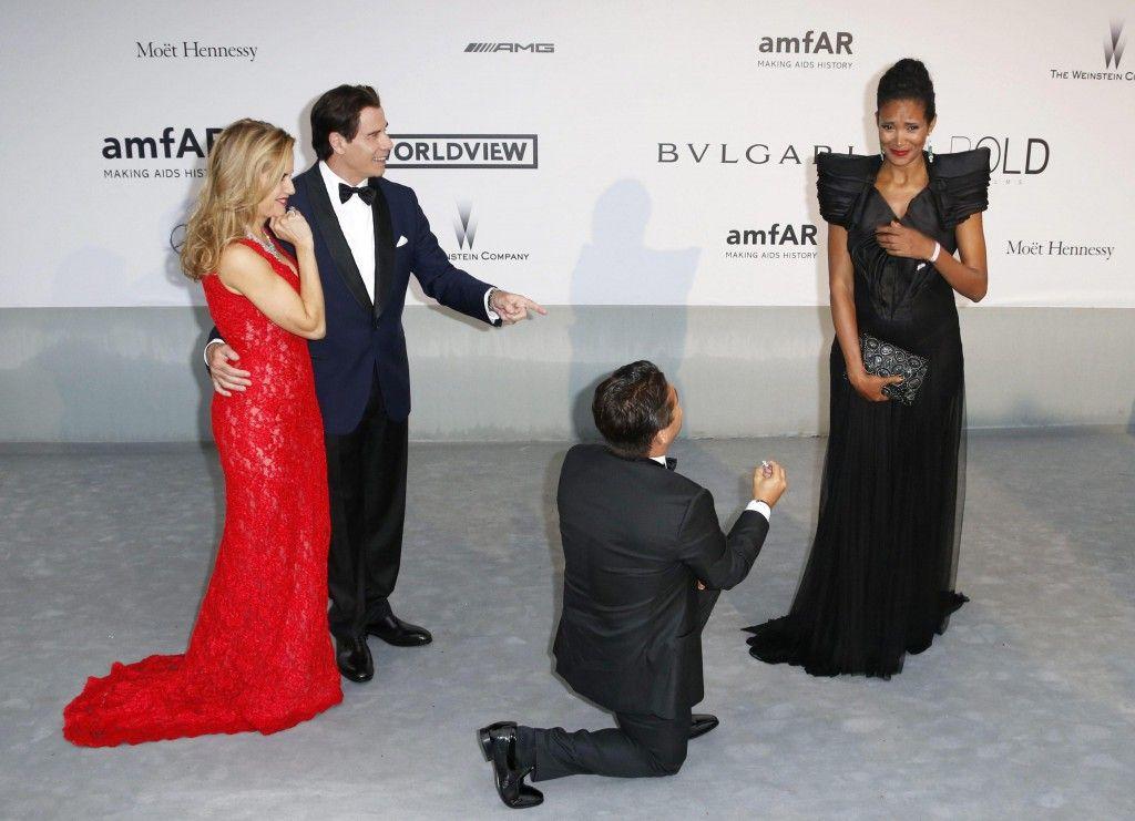 Denny Mendez: proposta di matrimonio a Cannes con l'aiuto di John Travolta