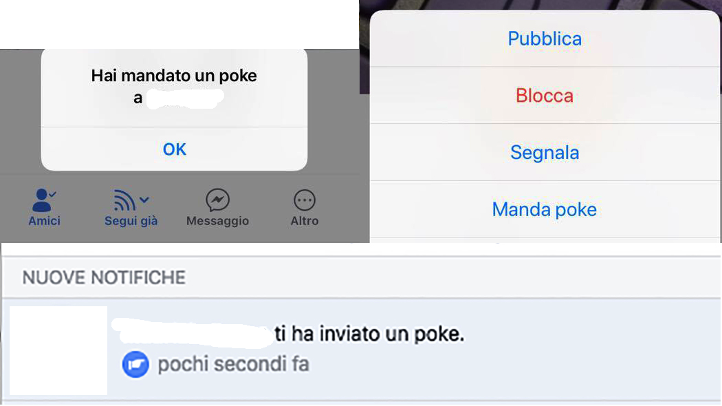 Poke Facebook mobile
