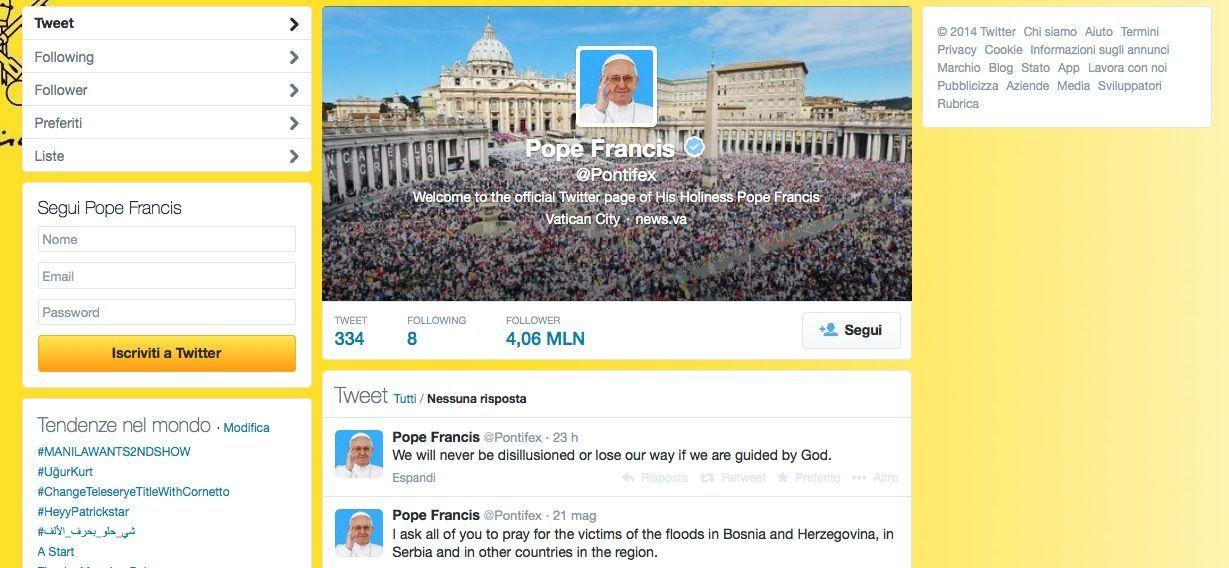 Pontifex su Twitter