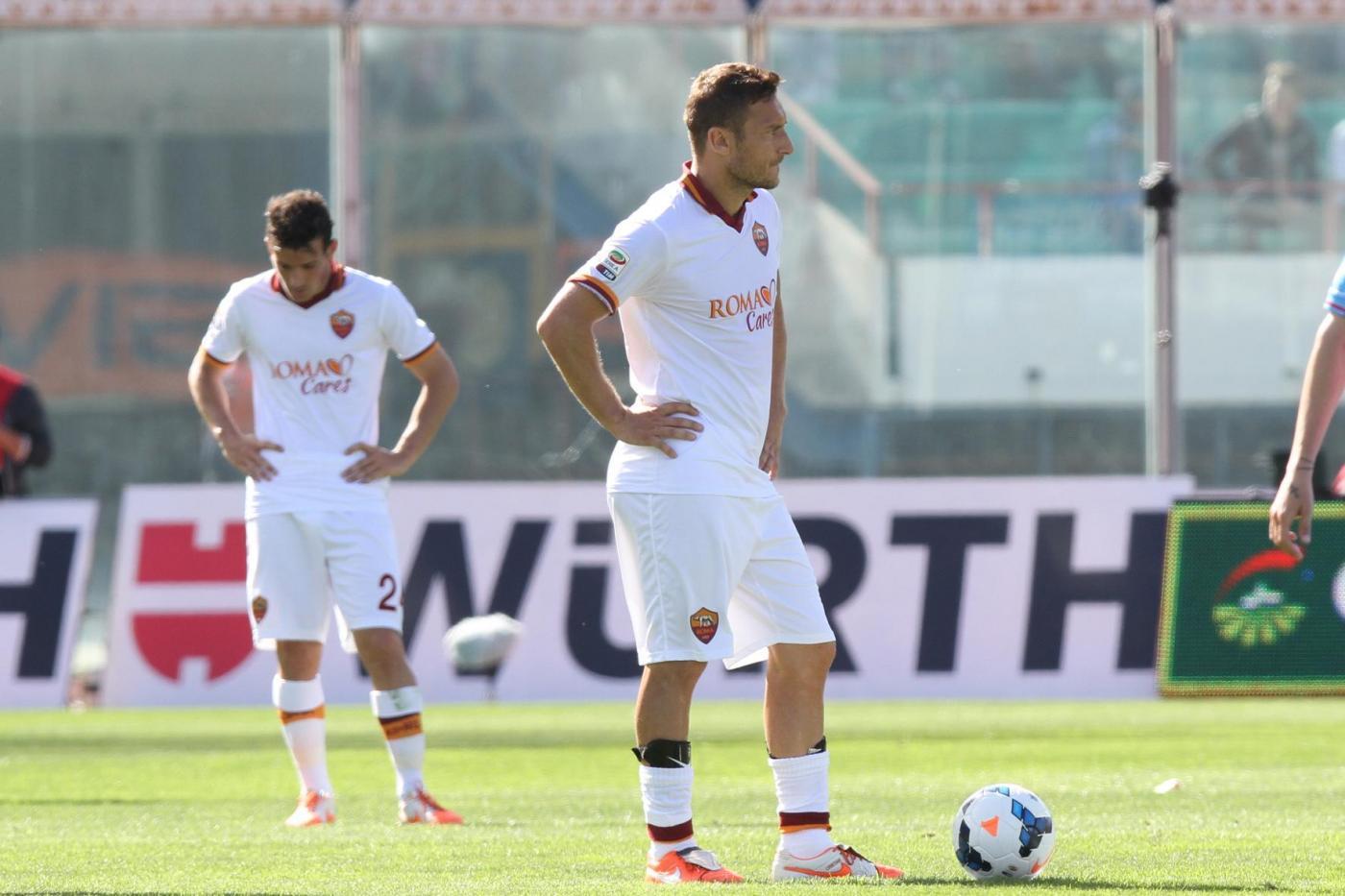 Roma sconfitta a Catania