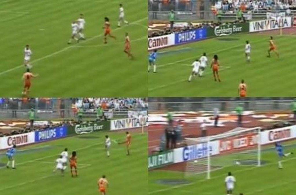Sequenza del gol di Van Basten a Euro 88
