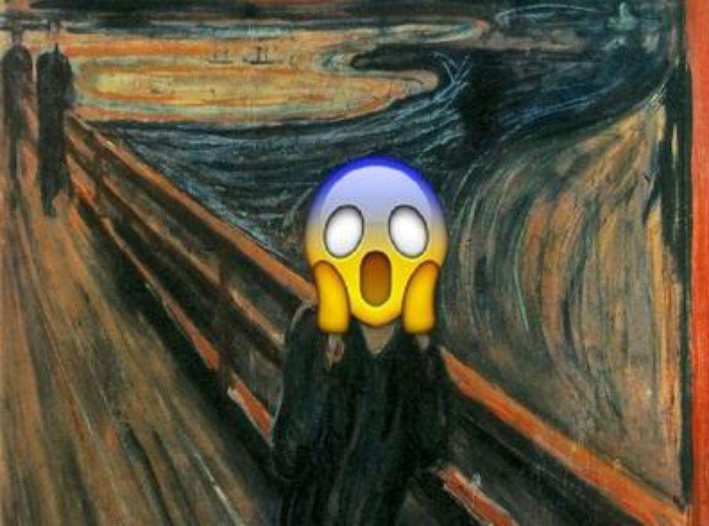 Emoticons nelle opere d'arte: i dipinti famosi nelle rivisitazioni di Emojinal Art