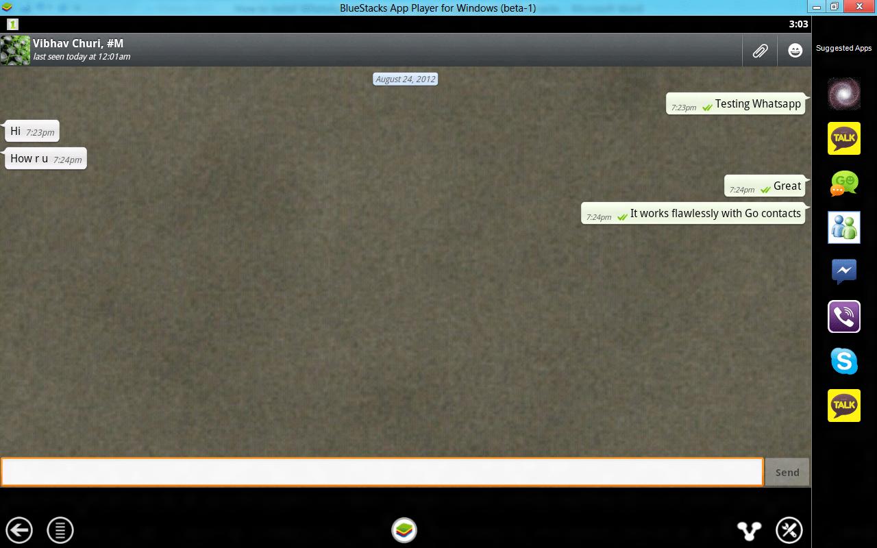 Whatsapp su PC con Bluestacks