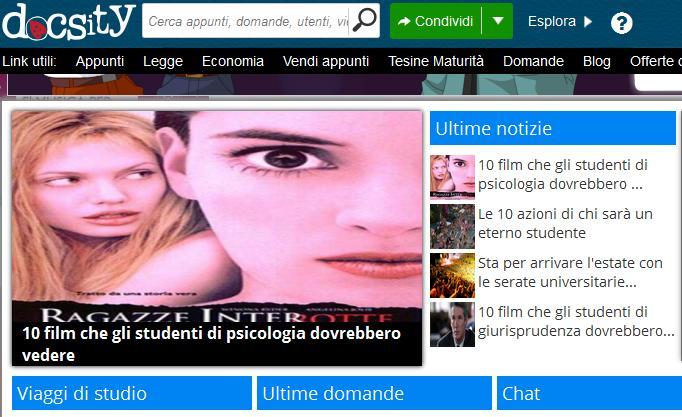 Docsity, il social network per gli studenti 3.0