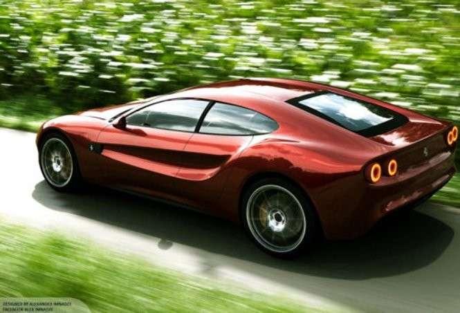 Ferrari Quattroporte Design Concept: render dell'ammiraglia Rossa