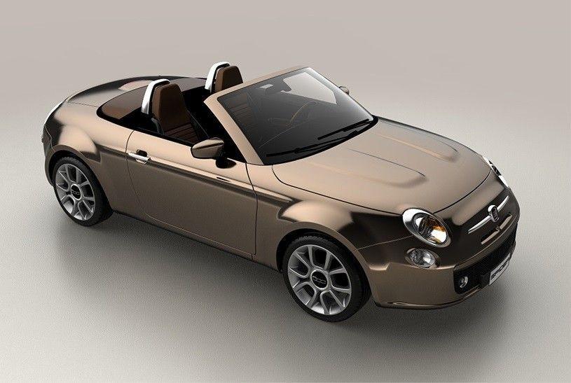 Fiat 500 Spider, render: la citycar si fa cabrio