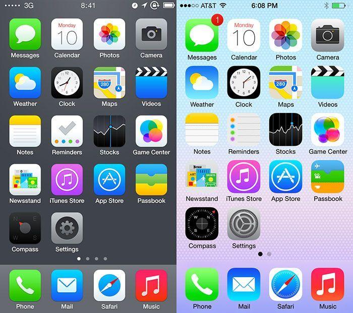 iOS 8 vs iOs 7