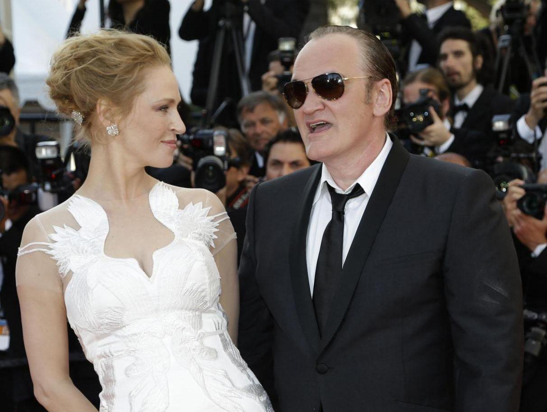 Uma Thurman e Quentin Tarantino innamorati: la foto del bacio