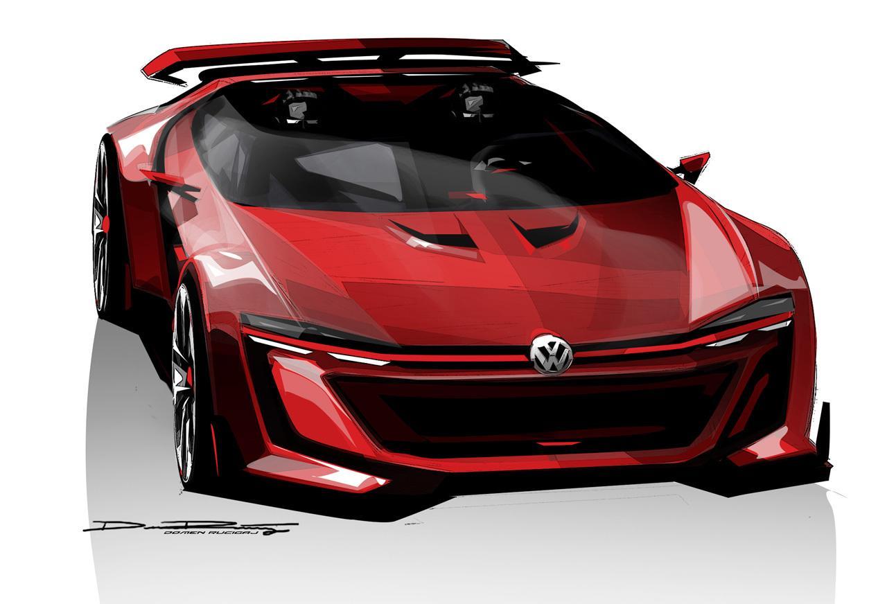 Volkswagen GTI Roadster Vision Gran Turismo: nuovo render dei tedeschi