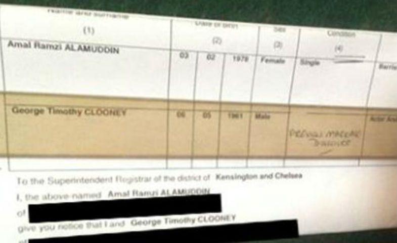 Clooney Alamuddin le pubblicazioni di nozze