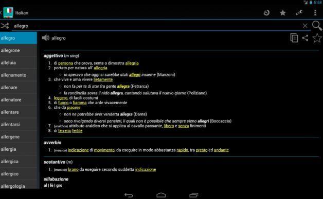 Le migliori 5 app per la Maturità 2016: i dizionari di italiano e greco