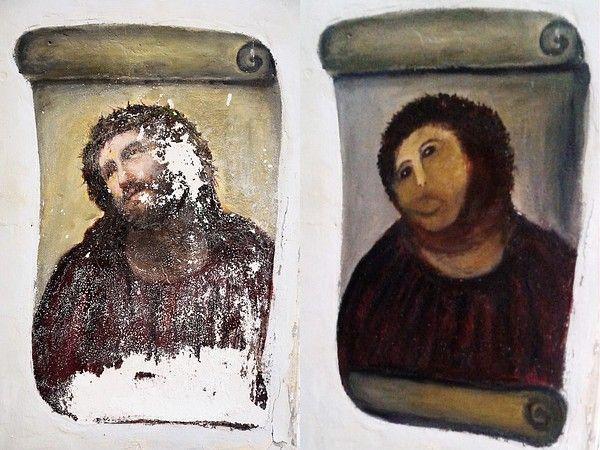 Ecce Homo restaurato male