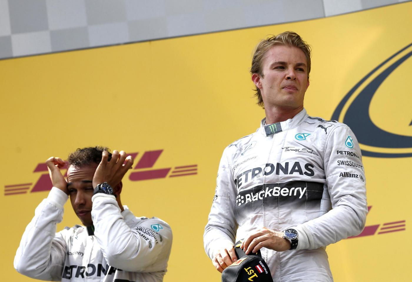 Gp Austria F1 2014, gara: Doppietta Mercedes. Alonso solo 5°