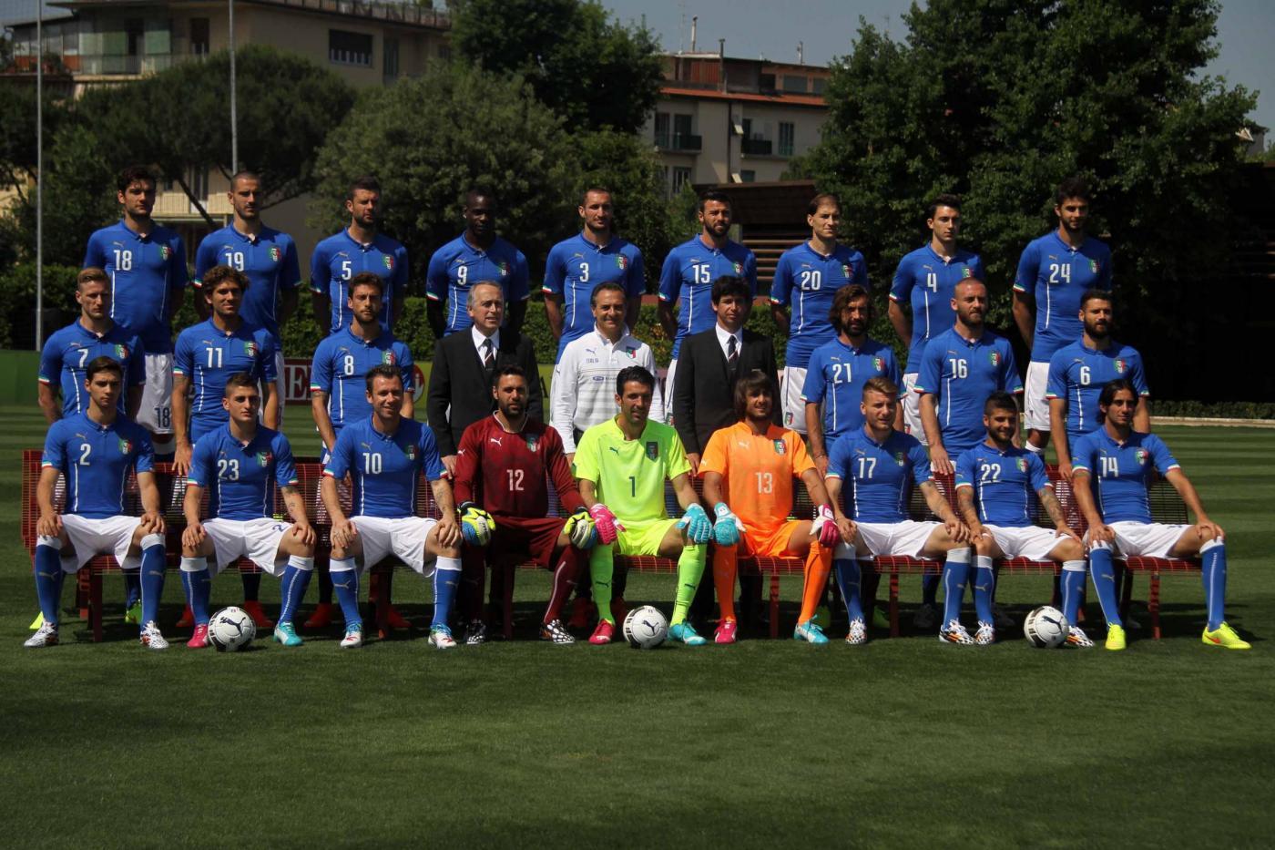 Italia ai Mondiali 2014 foto di squadra