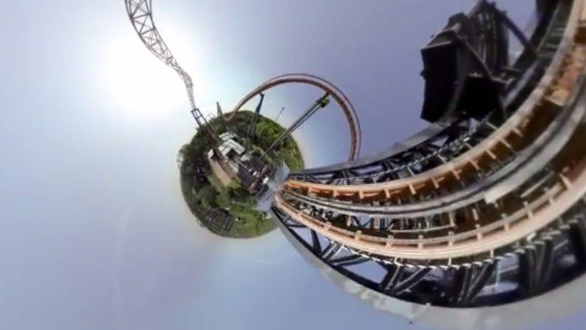 Le montagne russe a 360 gradi con la GoPro