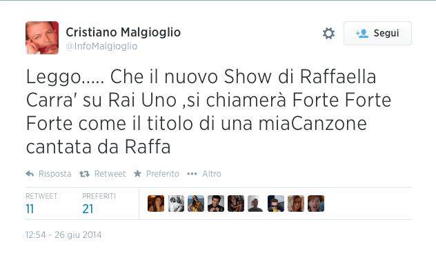 Malgioglio Forte forte forte Raffaella Carra