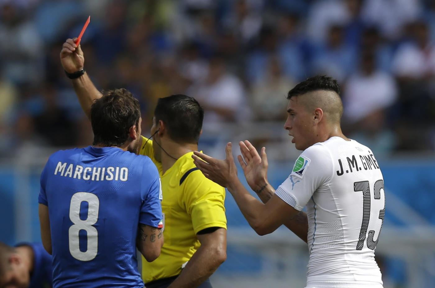 Mondiali 2014: Italia vs Uruguay 0-1, azzurri fuori tra le polemiche