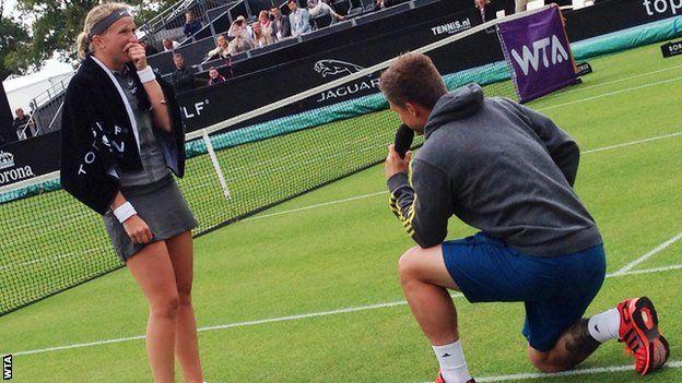 Michaella Krajicek: proposta di matrimonio sul campo di tennis